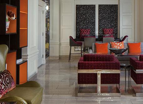 Image of Hotel Interior, Hotel Indigo Atlanta Midtown, 1927, Member of Historic Hotels of America, in Atlanta, Georgia, Special Offers, Discounted Rates, Families, Romantic Escape, Honeymoons, Anniversaries, Reunions