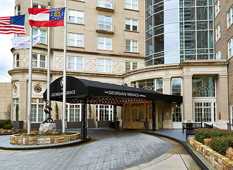 Image of Hotel Exterior The Georgian Terrace, 1911, Member of Historic Hotels of America, in Atlanta, Georgia, Special Offers, Discounted Rates, Families, Romantic Escape, Honeymoons, Anniversaries, Reunions