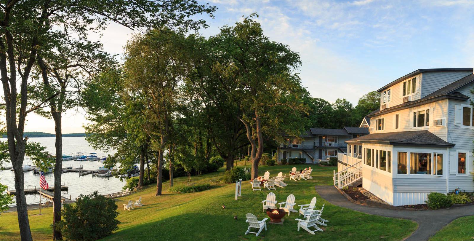 Image of Outdoor Seating Area Silver Birches, 1929 Member of Historic Hotels of America, in Hawley, Pennsylvania, Special Offers, Discounted Rates, Families, Romantic Escape, Honeymoons, Anniversaries, Reunions