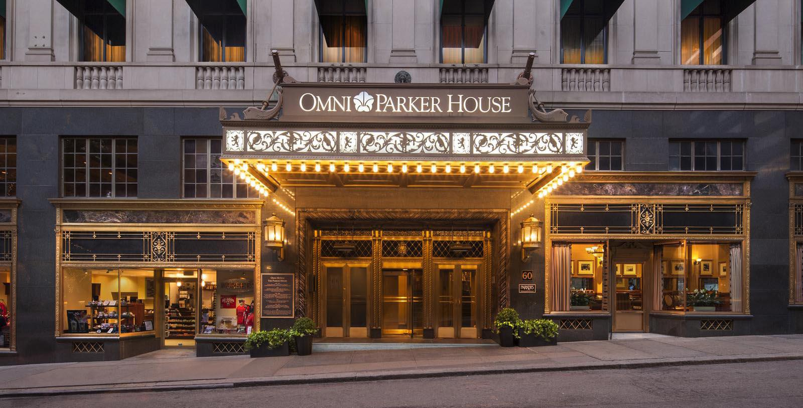 Image of Exterior & Entrance, Omni Parker House, Boston, Massachusetts, 1855, Member of Historic Hotels of America, Special Offers, Discounted Rates, Families, Romantic Escape, Honeymoons, Anniversaries, Reunions