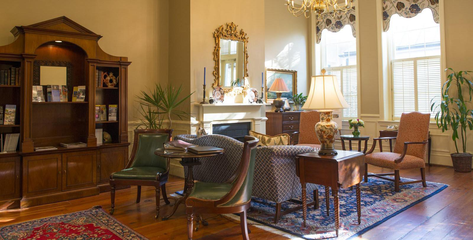 Image of Lobby Seating, Kings Courtyard Inn in Charleston, South Carolina, 1853, Member of Historic Hotels of America, Special Offers, Discounted Rates, Families, Romantic Escape, Honeymoons, Anniversaries, Reunions