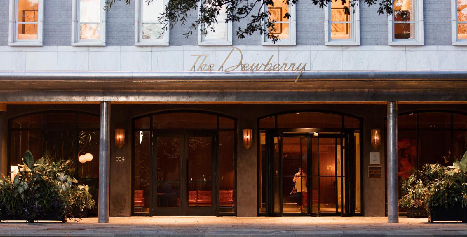 Image of Entrance The Dewberry, 1964, Member of Historic Hotels of America, in Charleston, South Carolina, Special Offers, Discounted Rates, Families, Romantic Escape, Honeymoons, Anniversaries, Reunions