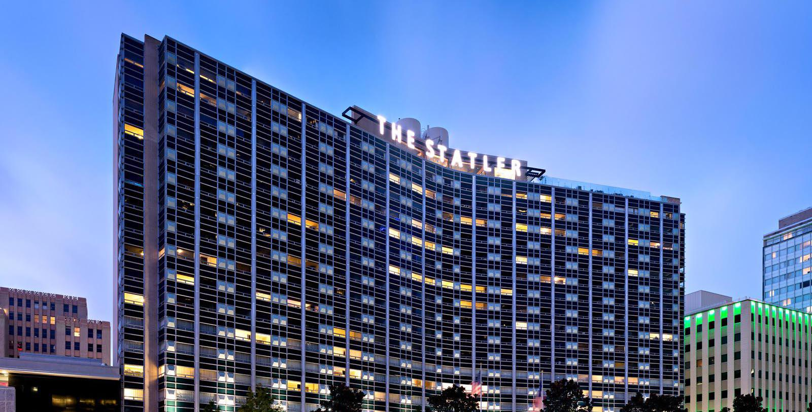Image of Hotel Exterior The Statler, 1956, Member of Historic Hotels of America, in Dallas, Texas, Special Offers, Discounted Rates, Families, Romantic Escape, Honeymoons, Anniversaries, Reunions