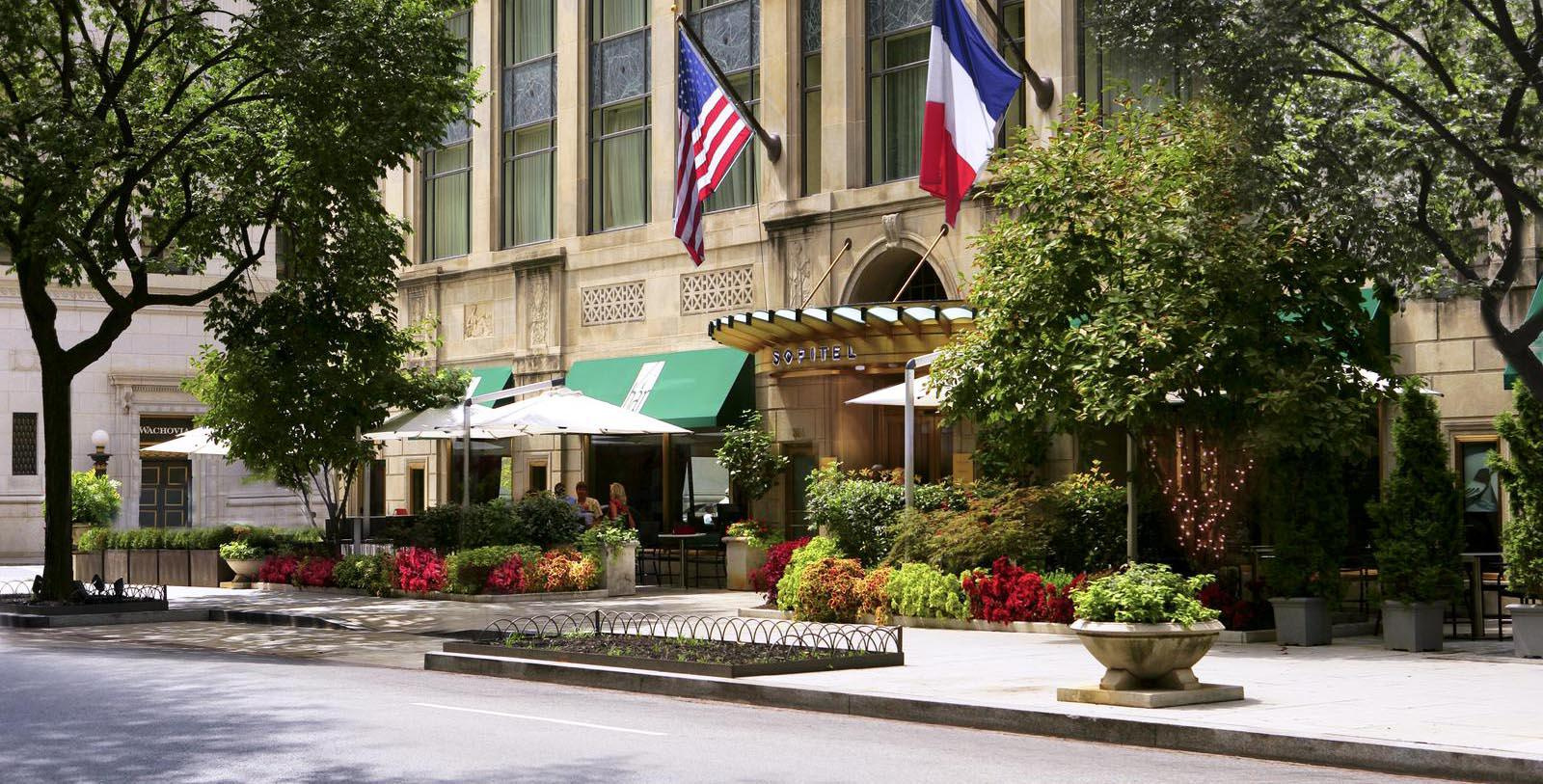 Image of Entrance Sofitel Washington DC Lafayette Square, 1927, Member of Historic Hotels of America, in Washington DC, Special Offers, Discounted Rates, Families, Romantic Escape, Honeymoons, Anniversaries, Reunions