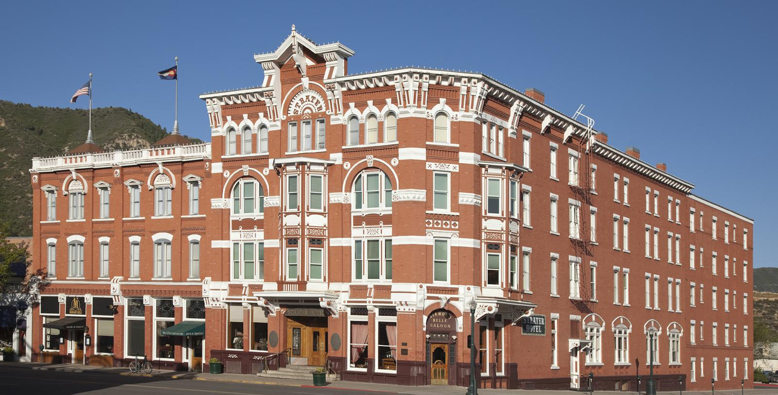 Image of Hotel Exterior The Strater Hotel, 1887, Member of Historic Hotels of America, in Durango, Colorado, Special Offers, Discounted Rates, Families, Romantic Escape, Honeymoons, Anniversaries, Reunions