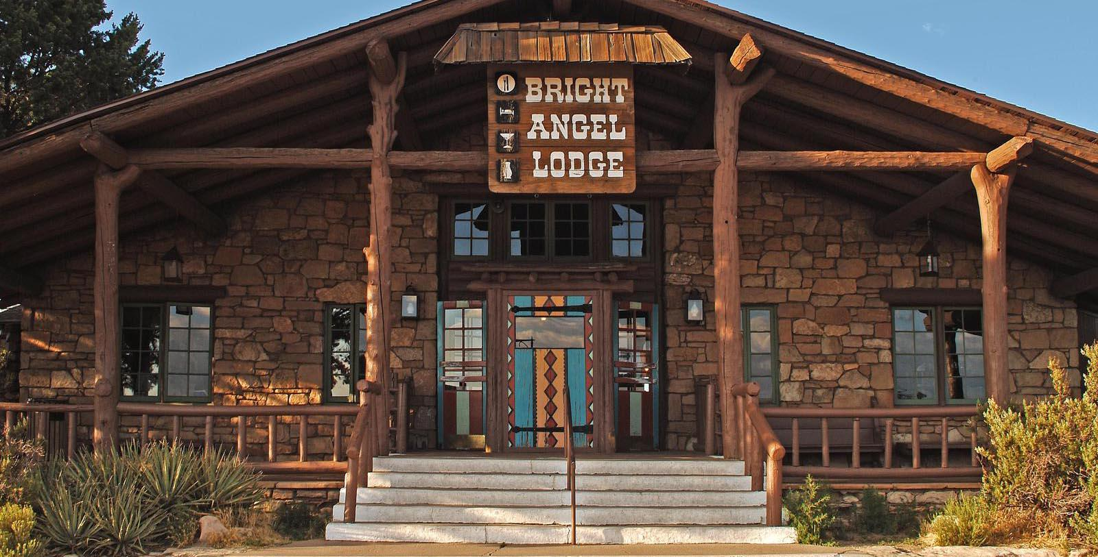 Image of Hotel Exterior at Bright Angel Lodge & Cabins, 1909, Member of Historic Hotels of America, in Grand Canyon, Arizona, Special Offers, Discounted Rates, Families, Romantic Escape, Honeymoons, Anniversaries, Reunions