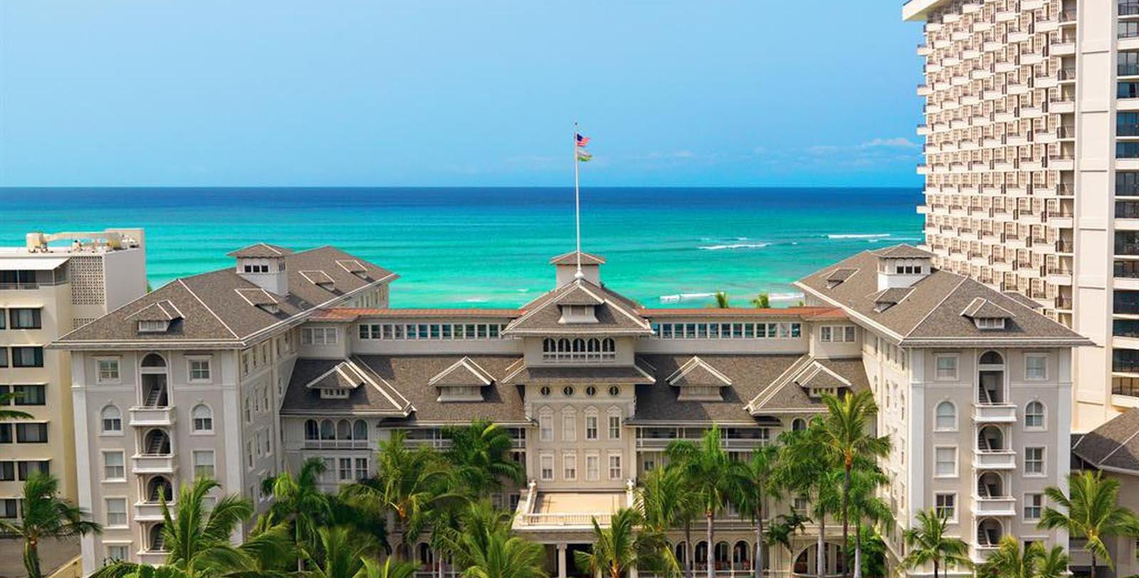 Image of Exterior & Ocean View, Moana Surfrider, A Westin Resort & Spa, Honolulu, Hawaii, 1901, Member of Historic Hotels of America, Special Offers, Discounted Rates, Families, Romantic Escape, Honeymoons, Anniversaries, Reunions