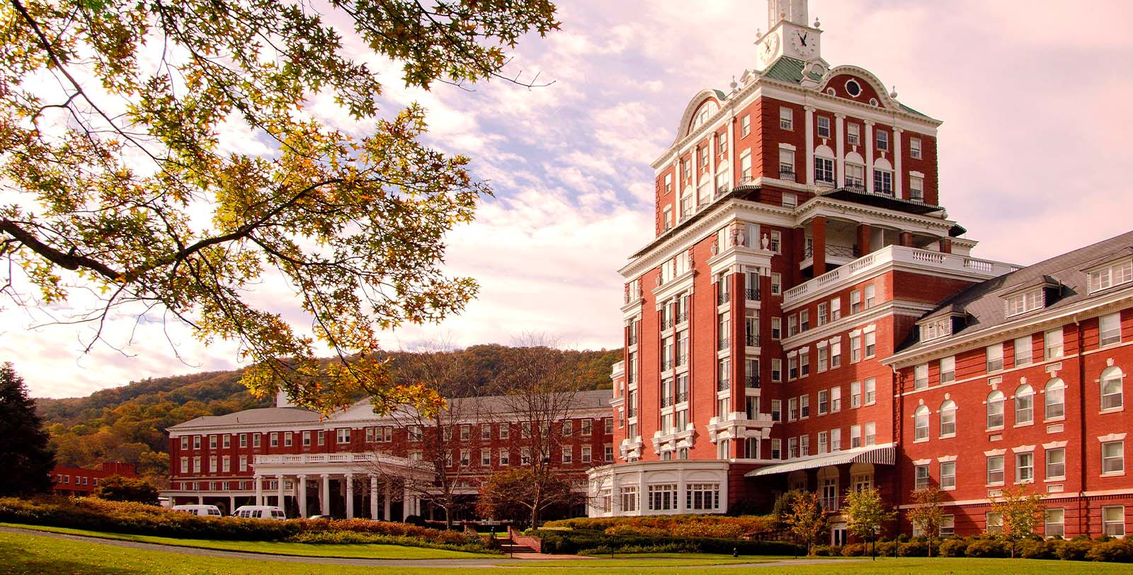 Image of Hotel Exterior The Omni Homestead Resort, 1766, Member of Historic Hotels of America, in Hot Springs, Virginia, Special Offers, Discounted Rates, Families, Romantic Escape, Honeymoons, Anniversaries, Reunions