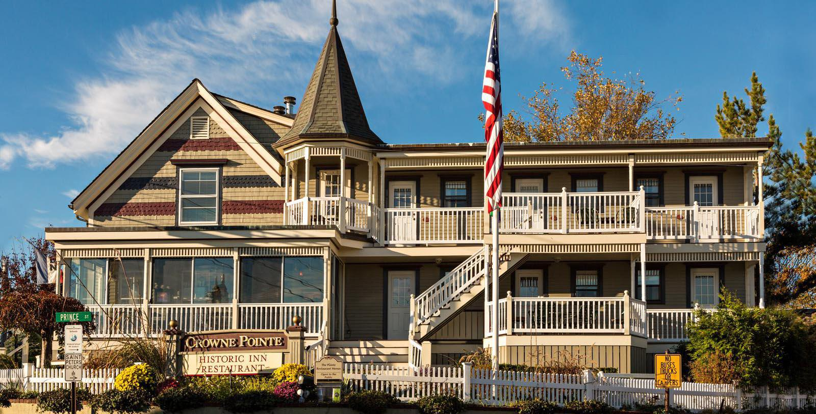 Image of Hotel Exterior at Crowne Pointe Historic Inn, 1900, Member of Historic Hotels of America, in Provincetown, Massachusetts, Special Offers, Discounted Rates, Families, Romantic Escape, Honeymoons, Anniversaries, Reunions