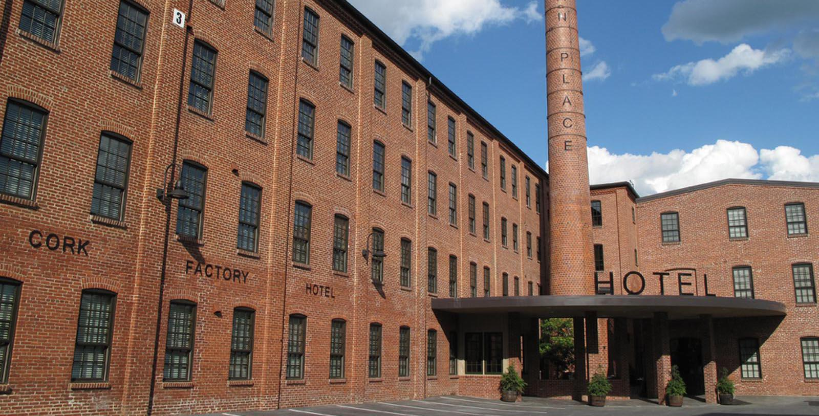 Image of Hotel Exterior at Cork Factory Hotel, 1865, Member of Historic Hotels of America, in Lancaster, Pennsylvania, Special Offers, Discounted Rates, Families, Romantic Escape, Honeymoons, Anniversaries, Reunions