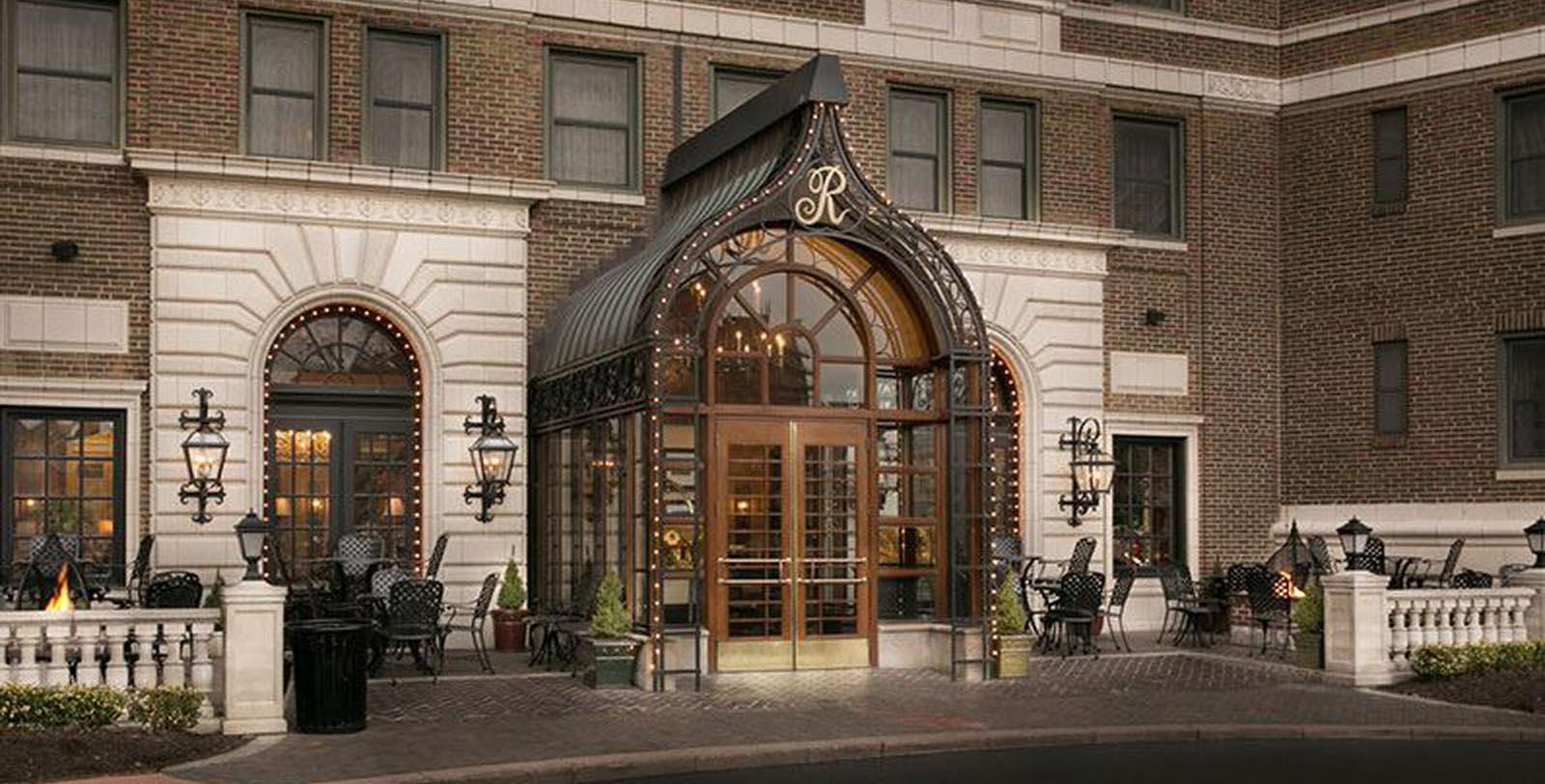 Image of Hotel Front Entrance at The Raphael Hotel, 1928, Member of Historic Hotels of America, in Kansas City, Missouri, Special Offers, Discounted Rates, Families, Romantic Escape, Honeymoons, Anniversaries, Reunions