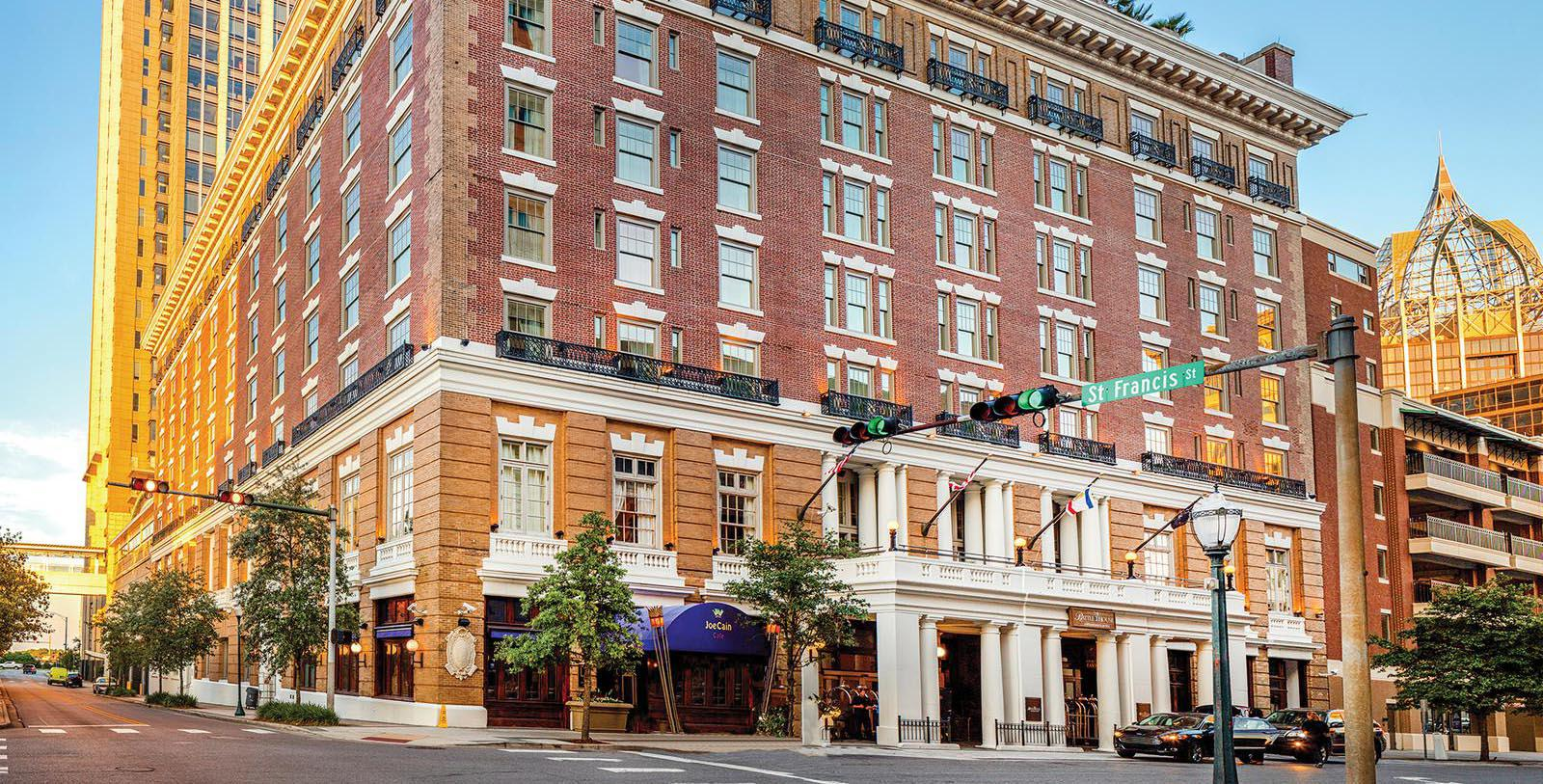 Image of Hotel Exterior at Battle House Renaissance Mobile Hotel & Spa, 1852, Member of Historic Hotels of America, in Mobile, Alabama, Special Offers, Discounted Rates, Families, Romantic Escape, Honeymoons, Anniversaries, Reunions
