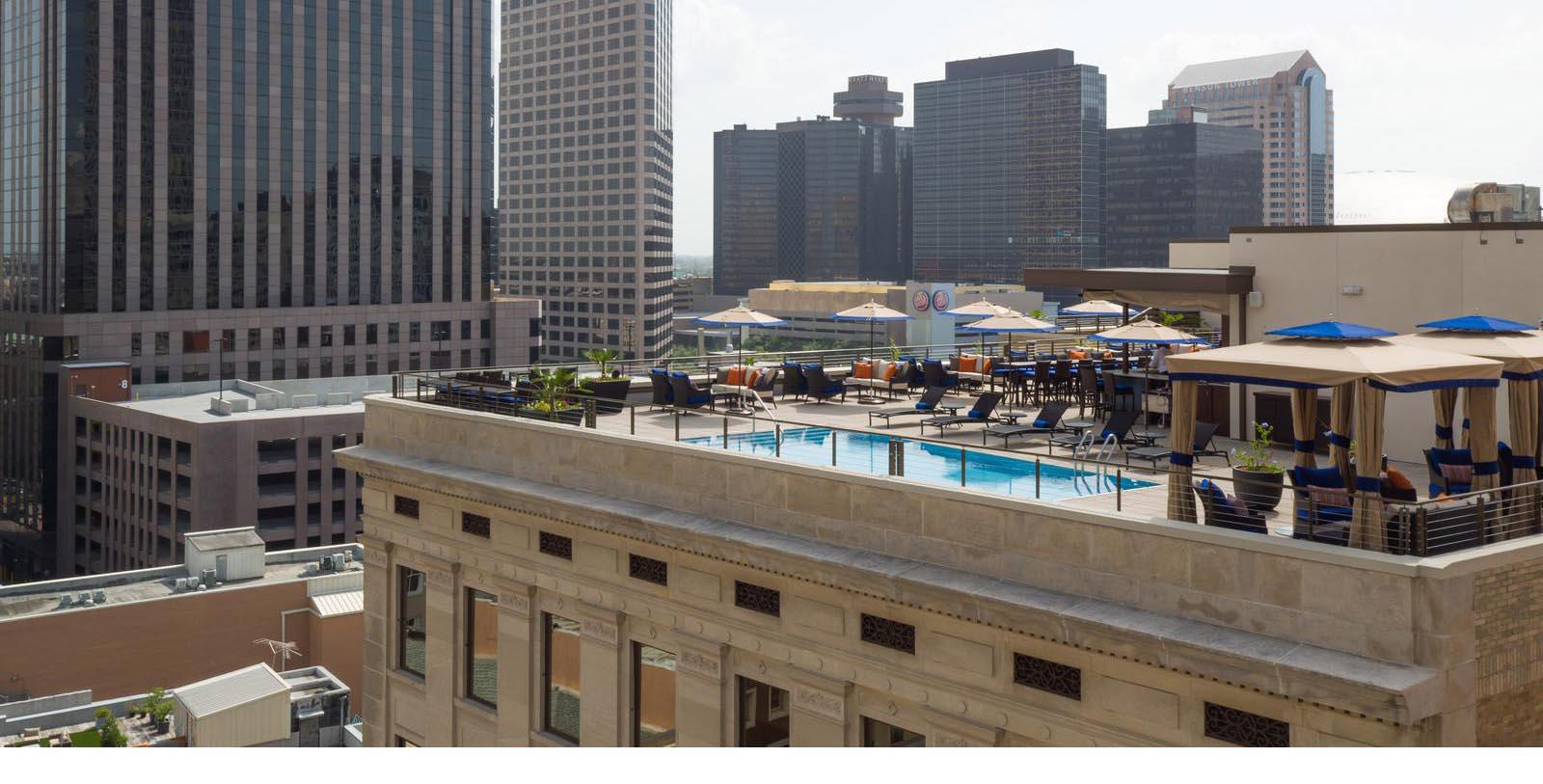 Image of Exterior & Rooftop Pool, NOPSI New Orleans, Louisiana, 1927, Member of Historic Hotels of America, Special Offers, Discounted Rates, Families, Romantic Escape, Honeymoons, Anniversaries, Reunions