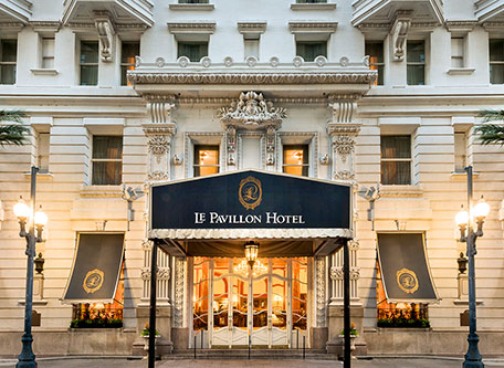 Image of Exterior, Le Pavillon Hotel in New Orleans, Louisiana, 1907, Member of Historic Hotels of America, Special Offers, Discounted Rates, Families, Romantic Escape, Honeymoons, Anniversaries, Reunions