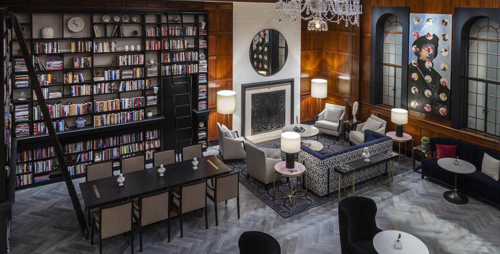 Image of Library The Heathman Hotel, 1927, Member of Historic Hotels of America, in Portland, Oregon, Special Offers, Discounted Rates, Families, Romantic Escape, Honeymoons, Anniversaries, Reunions