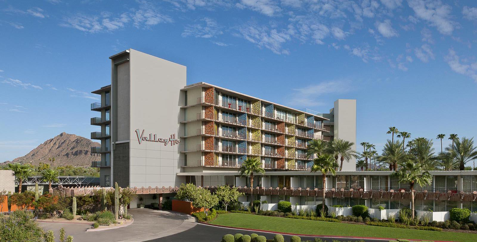 Image of Exterior, Hotel Valley Ho, Scottsdale, Arizona, 1956, Member of Historic Hotels of America, Special Offers, Discounted Rates, Families, Romantic Escape, Honeymoons, Anniversaries, Reunions