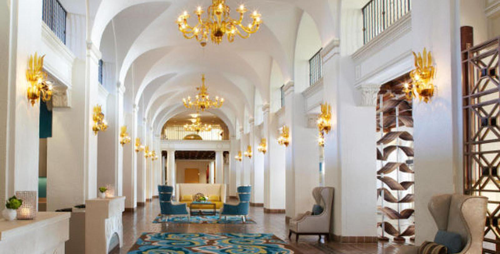 Image of Hotel Lobby at The Vinoy Renaissance St. Petersburg Resort & Golf Club, 1925, Member of Historic Hotels of America, in St. Petersburg, Florida, Special Offers, Discounted Rates, Families, Romantic Escape, Honeymoons, Anniversaries, Reunions