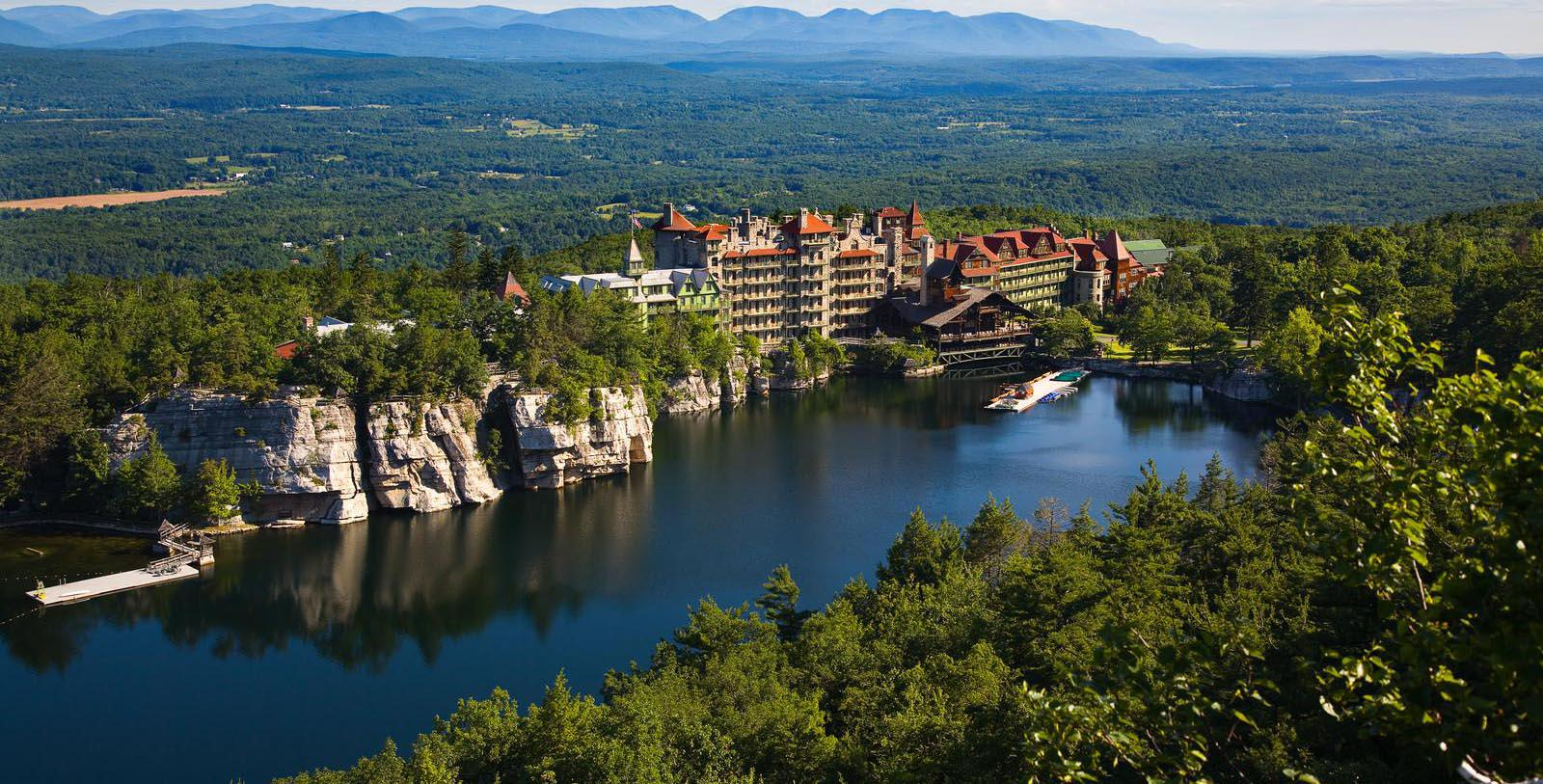 Image Hotel Exterior & Landscape, Mohonk Mountain House, New Paltz, New York, 1869, Member of Historic Hotels of America, Special Offers, Discounted Rates, Families, Romantic Escape, Honeymoons, Anniversaries, Reunions