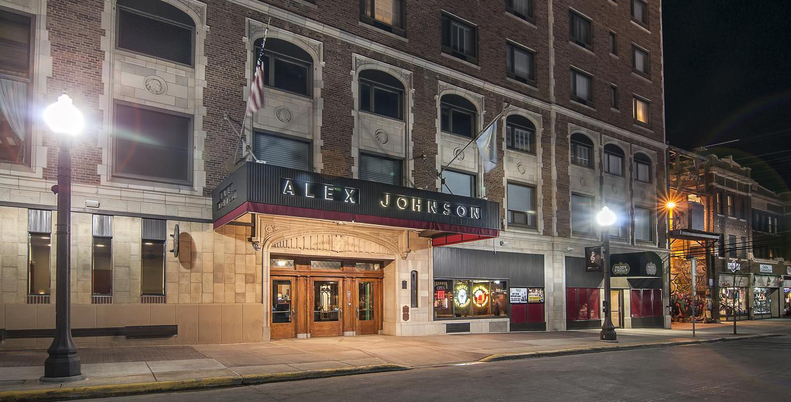 Image of Hotel Exterior, Hotel Alex Johnson in Rapid City, South Dakota, 1928, Member of Historic Hotels of America, Special Offers, Discounted Rates, Families, Romantic Escape, Honeymoons, Anniversaries, Reunions
