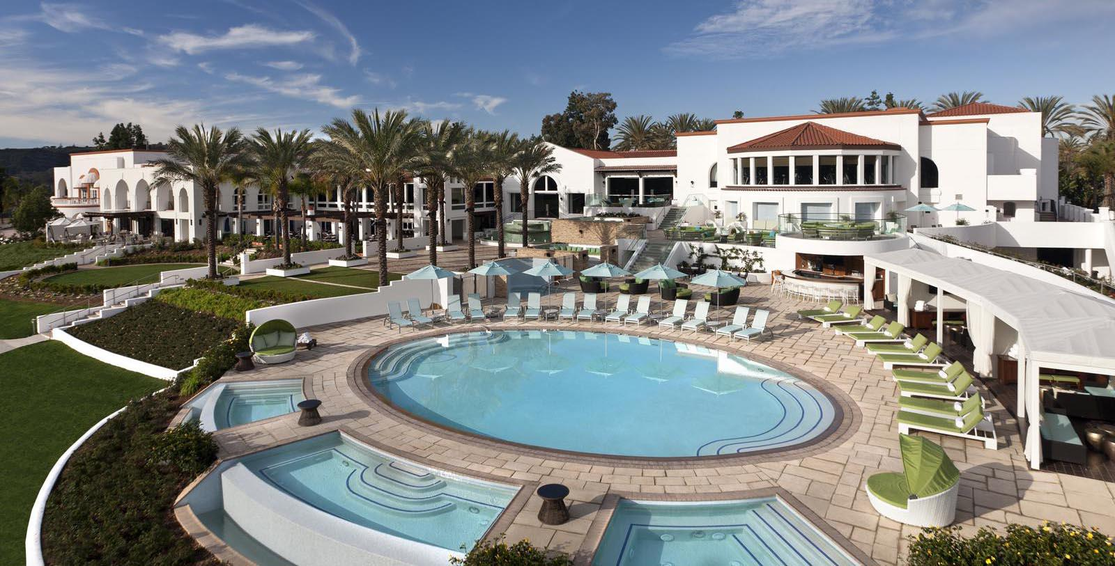 Image of Hotel Exterior & Outdoor Pool, Omni La Costa Resort & Spa, Carlsbad, California, 1965, Member of Historic Hotels of America, Special Offers, Discounted Rates, Families, Romantic Escape, Honeymoons, Anniversaries, Reunions
