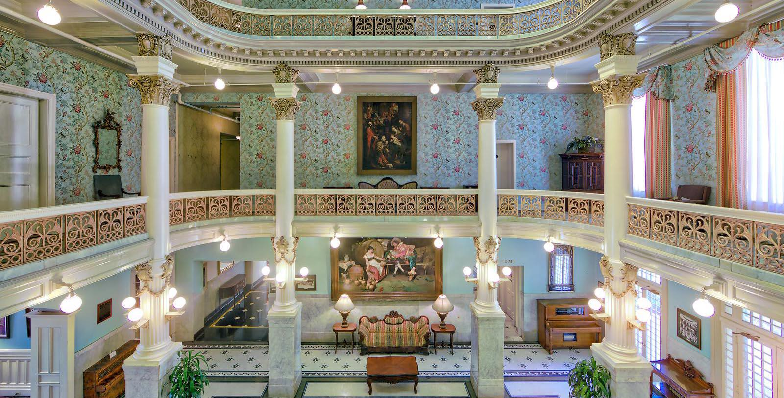 Image of Hotel Lobby at The Menger Hotel, 1859, Member of Historic Hotels of America, in San Antonio, Texas, Special Offers, Discounted Rates, Families, Romantic Escape, Honeymoons, Anniversaries, Reunions