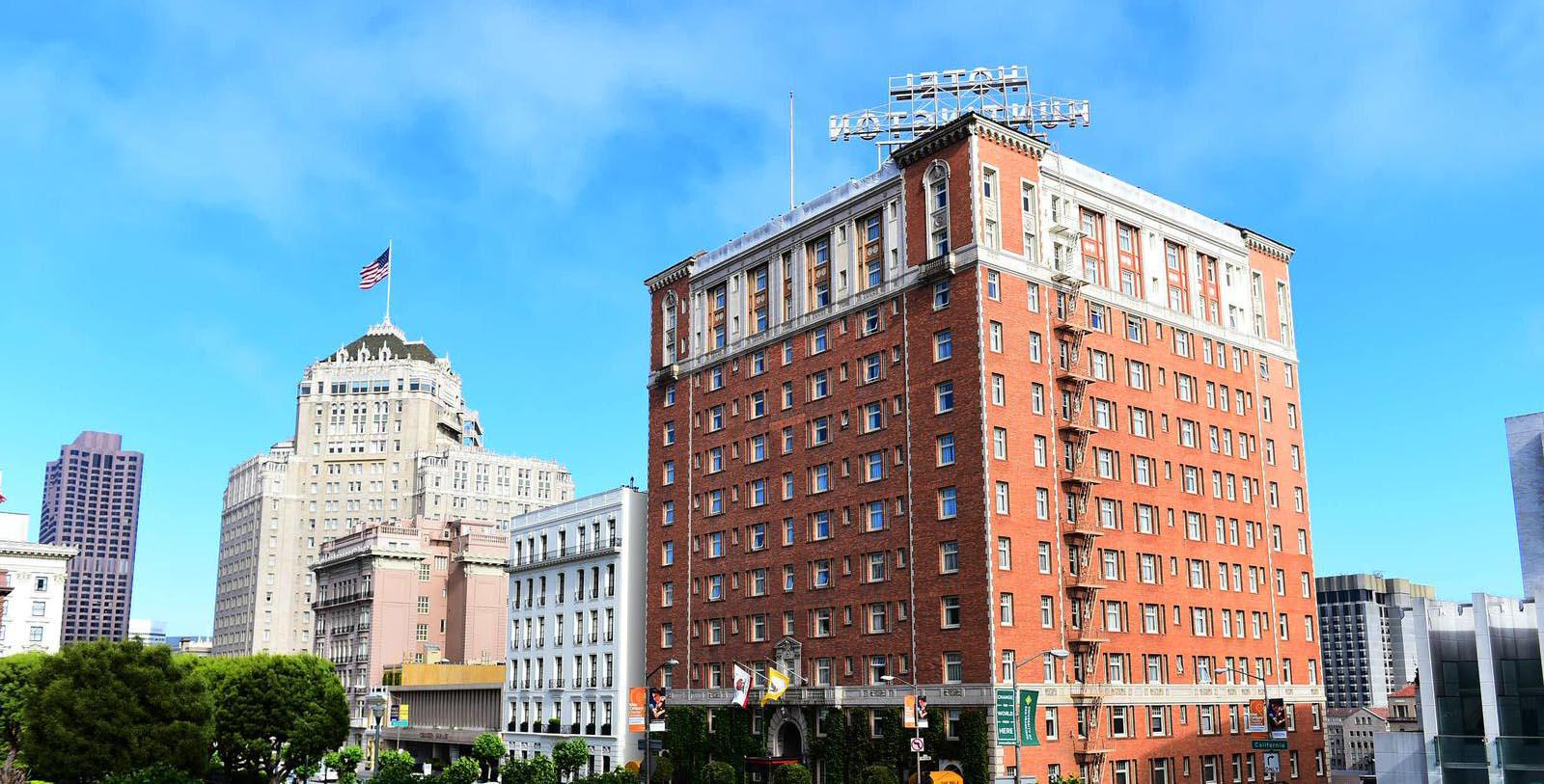 Image of Exterior The Huntington Hotel, 1924, Member of Historic Hotels of America, in San Francisco, Special Offers, Discounted Rates, Families, Romantic Escape, Honeymoons, Anniversaries, Reunions