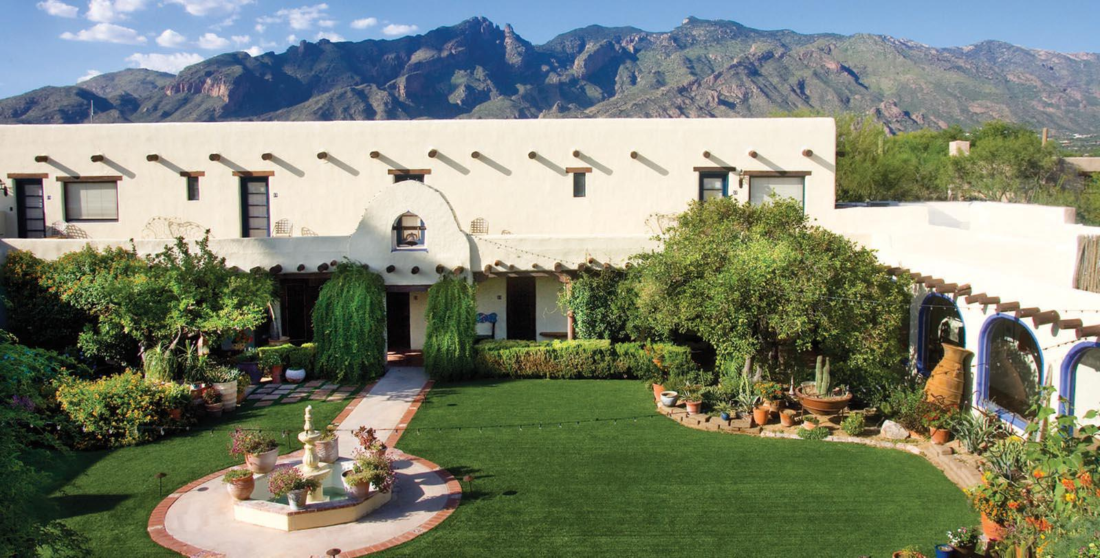 Image of hotel exterior Hacienda Del Sol Guest Ranch Resort, 1929, Member of Historic Hotels of America, in Tuscan, Arizona, Special Offers, Discounted Rates, Families, Romantic Escape, Honeymoons, Anniversaries, Reunions