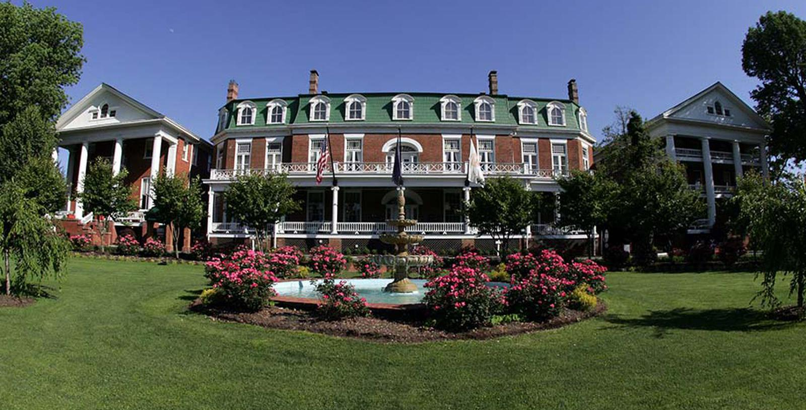 Image of Hotel Exterior The Martha Washington Hotel & Spa, 1832, Member of Historic Hotels of America, in Abingdon, Virginia, Special Offers, Discounted Rates, Families, Romantic Escape, Honeymoons, Anniversaries, Reunions