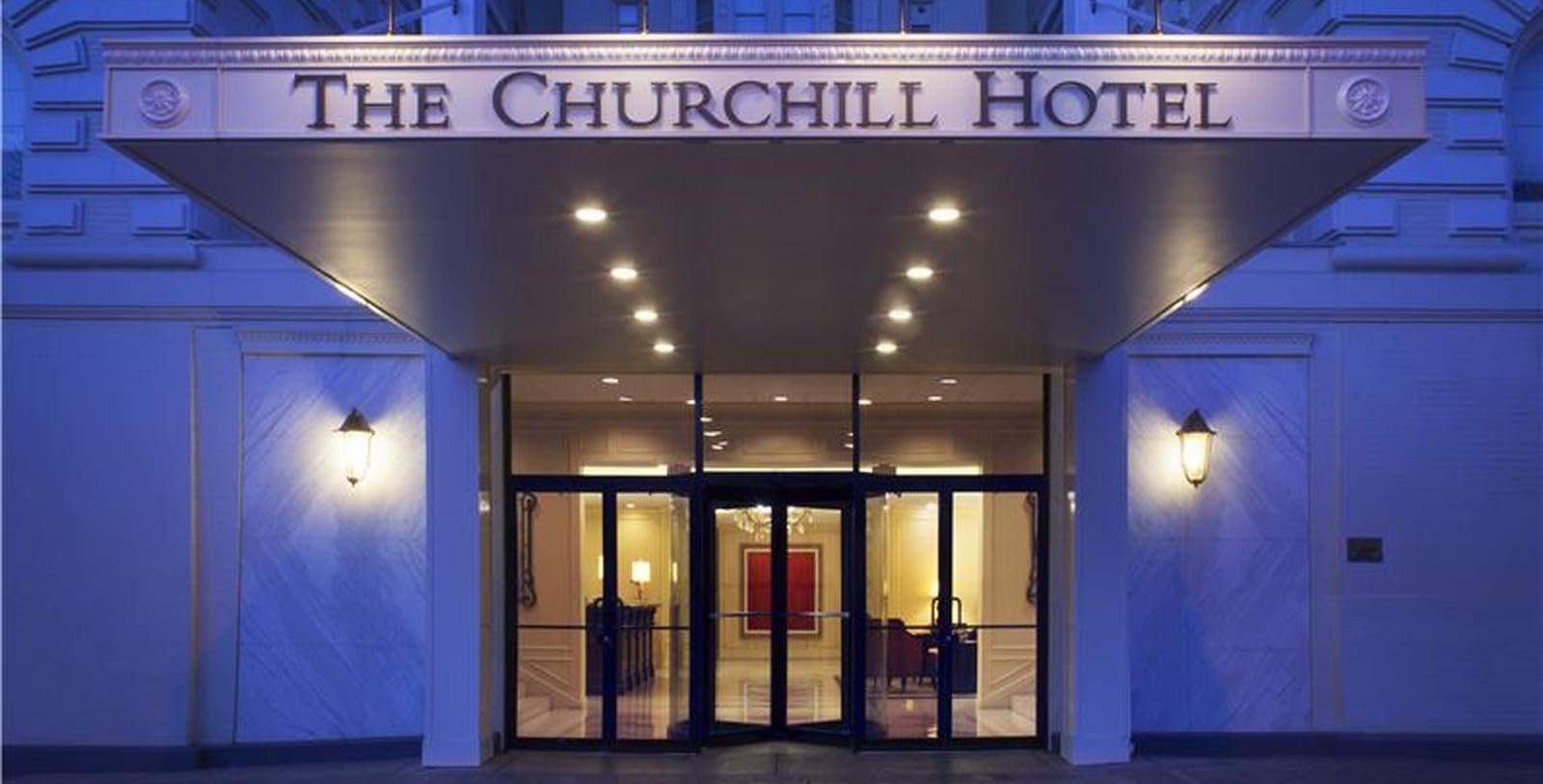 Image of Entrance The Churchill, 1906, Member of Historic Hotels of America, in Washington, DC, Special Offers, Discounted Rates, Families, Romantic Escape, Honeymoons, Anniversaries, Reunions