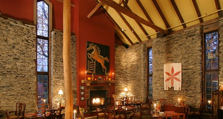 Dining at      Glasbern Country Inn  in Fogelsville