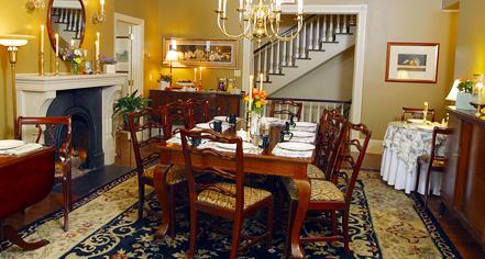 Dining at      The Sayre Mansion  in Bethlehem