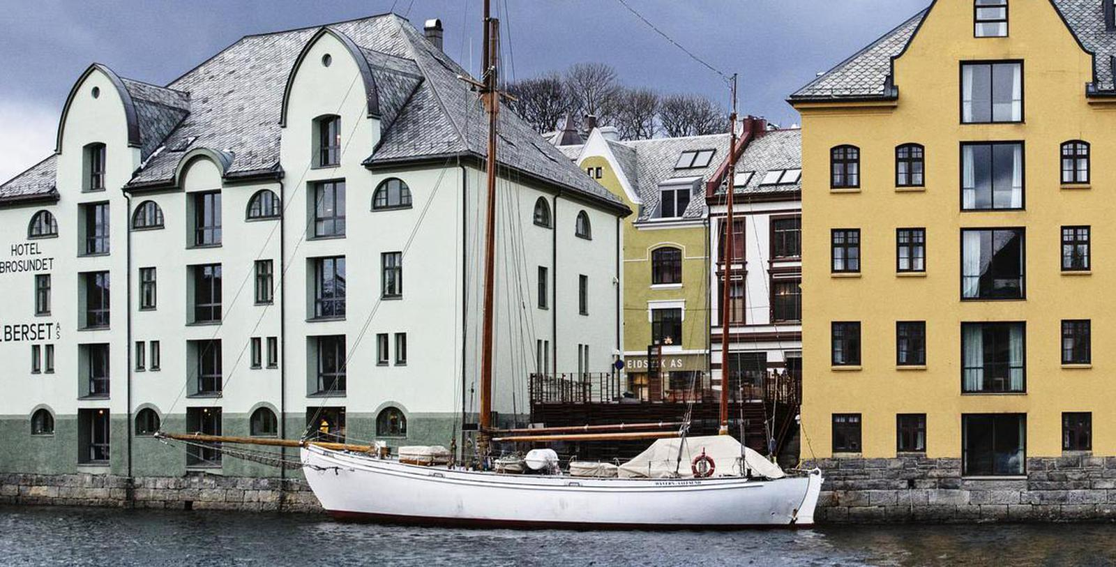 Image of Exterior, Hotel Brosundet, Alesund, Norway, 1904, Member of Historic Hotels Worldwide, Discover