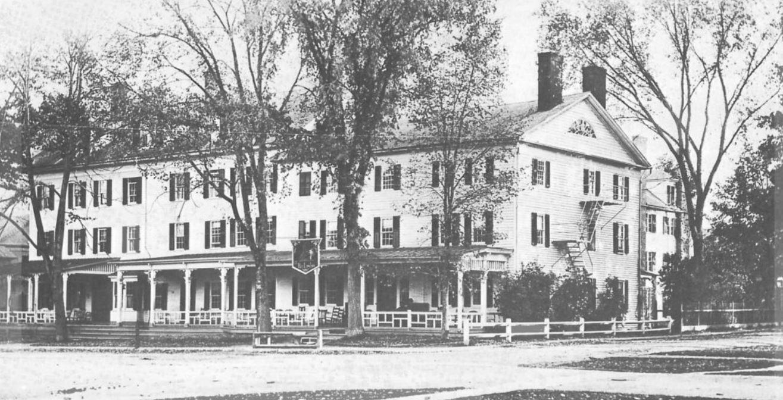Historical Image of Exterior, The Red Lion Inn, 1773, Member of Historic Hotels of America, in Stockbridge, Massachusetts