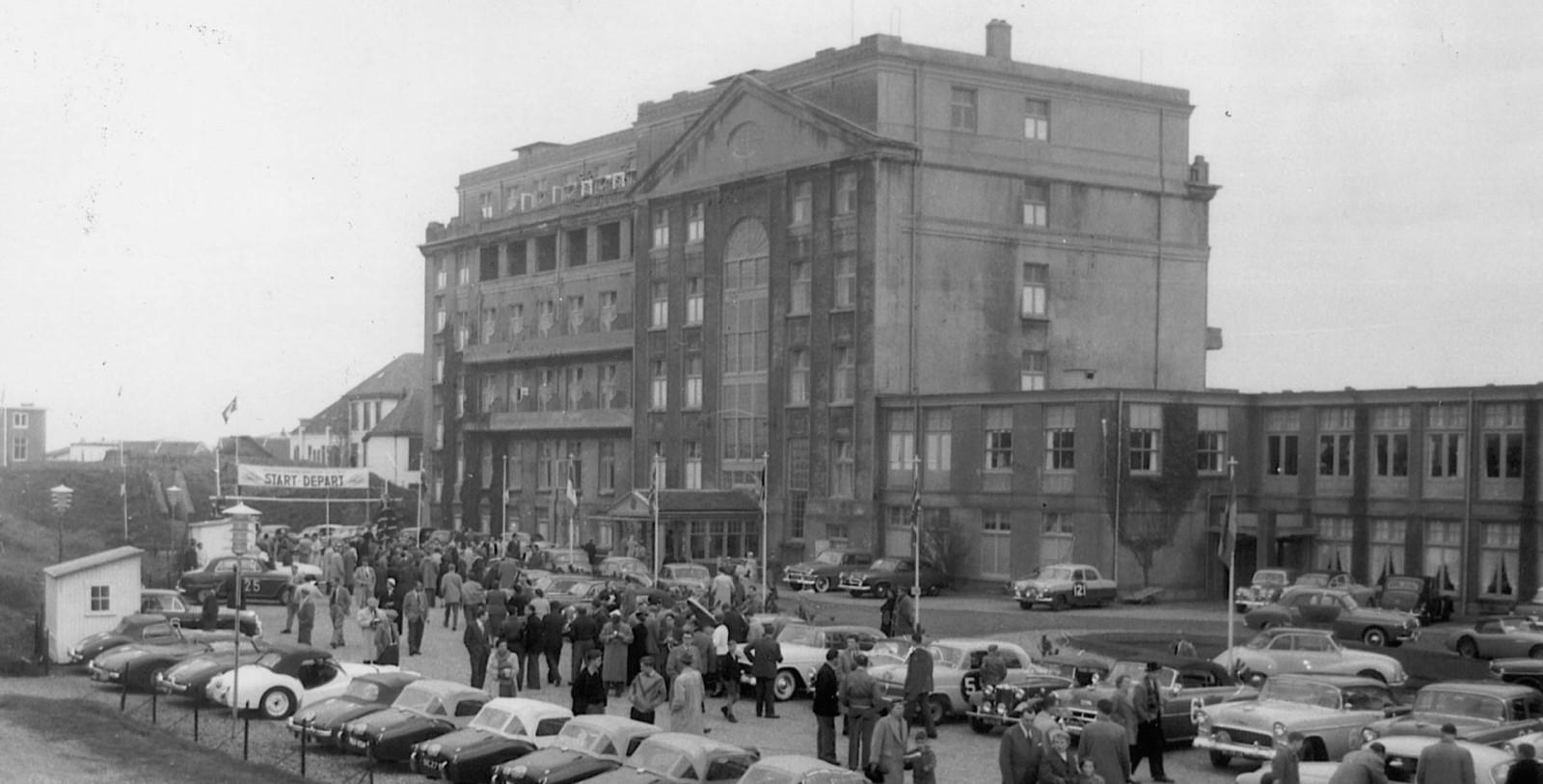 Historic Image of Exterior, Grand Hotel Huis ter Duin, Noordwijk aan Zee, Netherlands, 1885, Member of Historic Hotels Worldwide, History