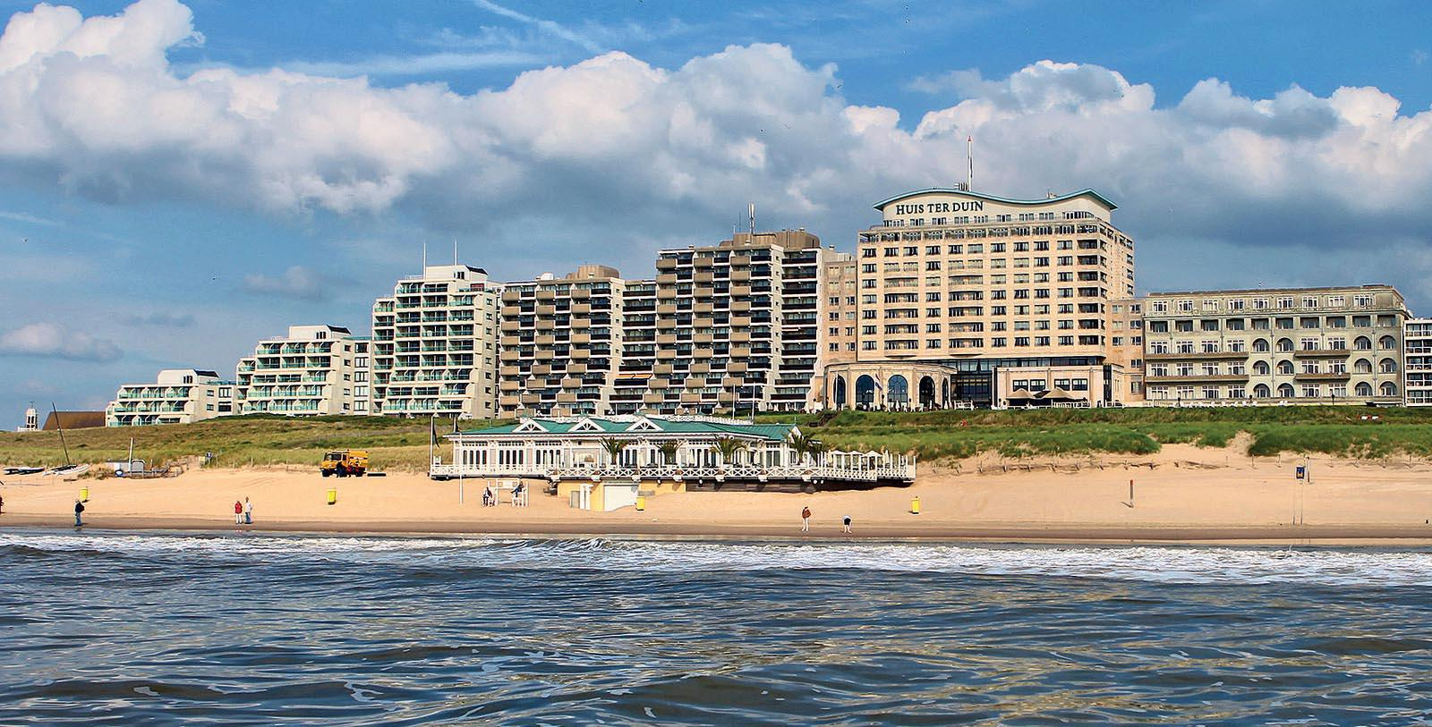 Image of Hotel Exterior & Beach, Grand Hotel Huis ter Duin, Noordwijk aan Zee, Netherlands, 1885, Member of Historic Hotels Worldwide, Overview