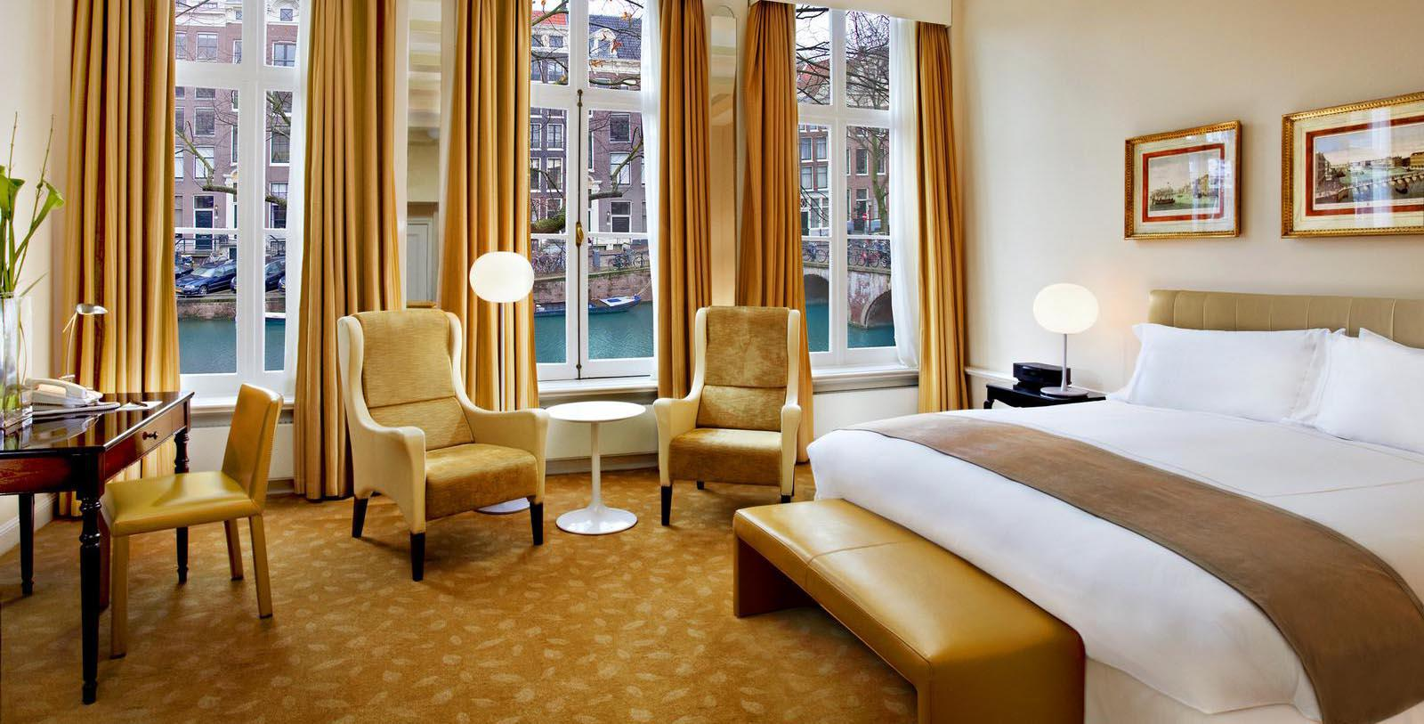 Image of Guestroom Interior Pulitzer Amsterdam, 17th Century, Member of Historic Hotels Worldwide, in Amsterdam, Netherlands, Location