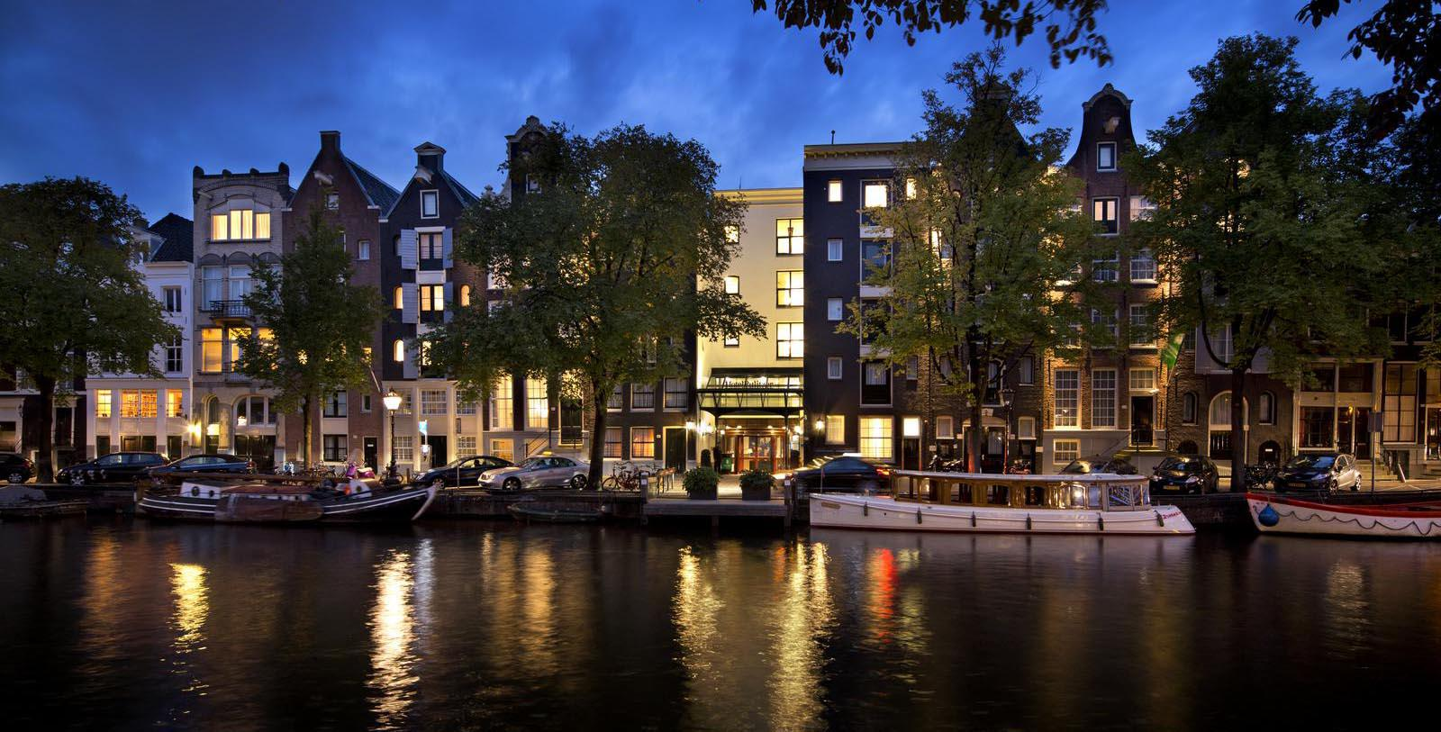 Image of Hotel Exterior Pulitzer Amsterdam, 17th Century, Member of Historic Hotels Worldwide, in Amsterdam, Netherlands, Special Offers, Discounted Rates, Families, Romantic Escape, Honeymoons, Anniversaries, Reunions