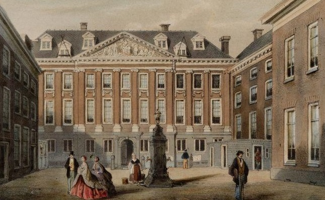 Historical Image of Exterior as Town Hall, Sofitel Legend The Grand Amsterdam, 1578, Member of Historic Hotels Worldwide, in Amsterdam, Netherlands