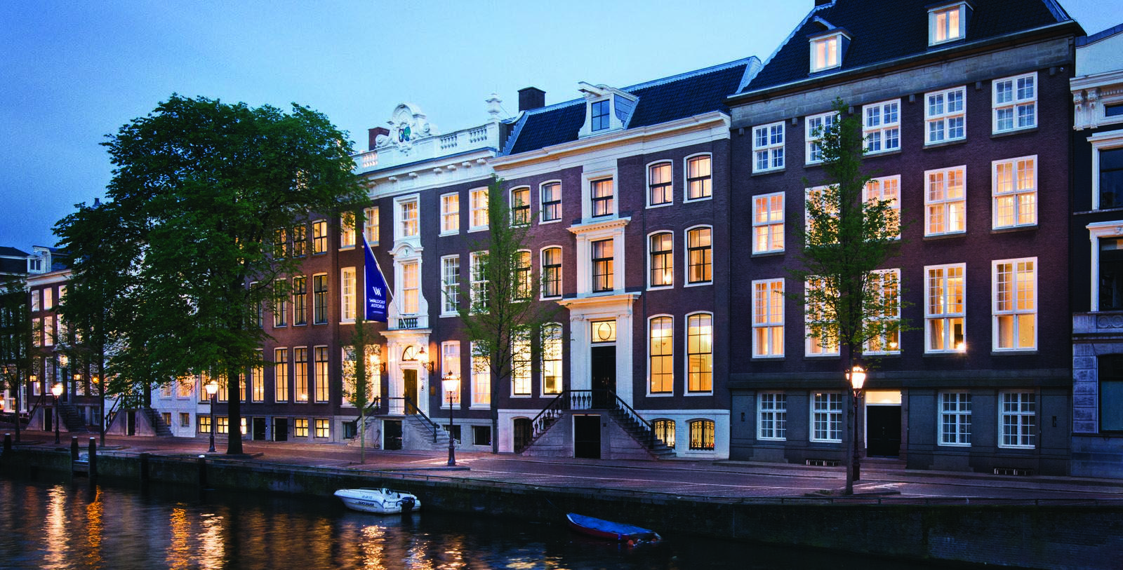 Image of Hotel Exterior Waldorf Astoria Amsterdam, 1650, Member of Historic Hotels Worldwide, in Amsterdam, Netherlands, Special Offers, Discounted Rates, Families, Romantic Escape, Honeymoons, Anniversaries, Reunions
