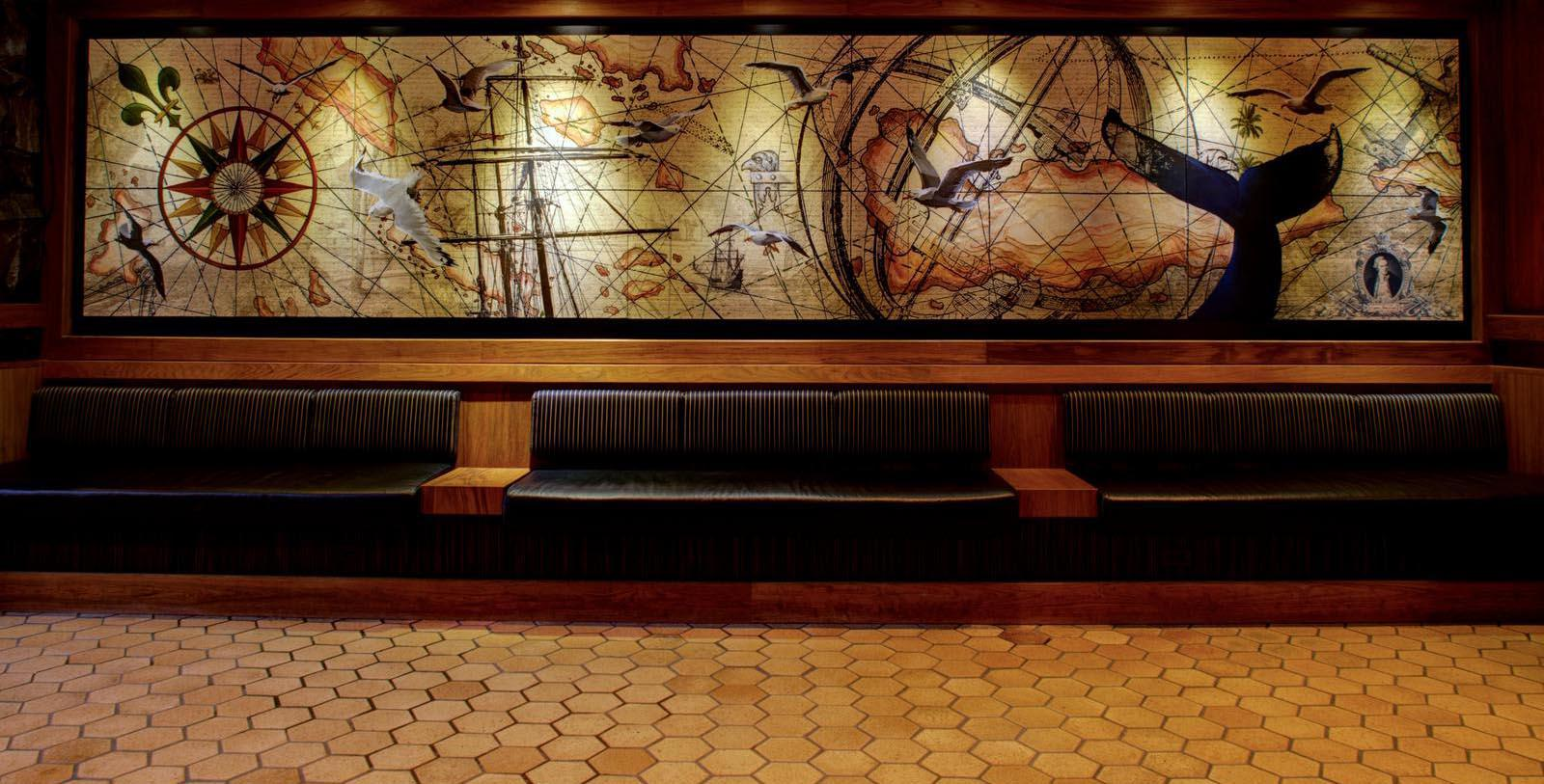Image of Lobby Mural Hotel Captain Cook in Anchorage, Alaska, 1956, Member of Historic Hotels of America, Discover