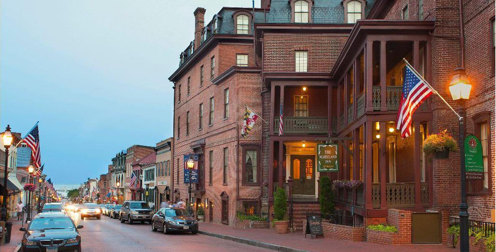 Image of Hotel Exterior, Historic Inns of Annapolis in Annapolis, Maryland, 1727, Member of Historic Hotels of America, Special Offers, Discounted Rates, Families, Romantic Escape, Honeymoons, Anniversaries, Reunions