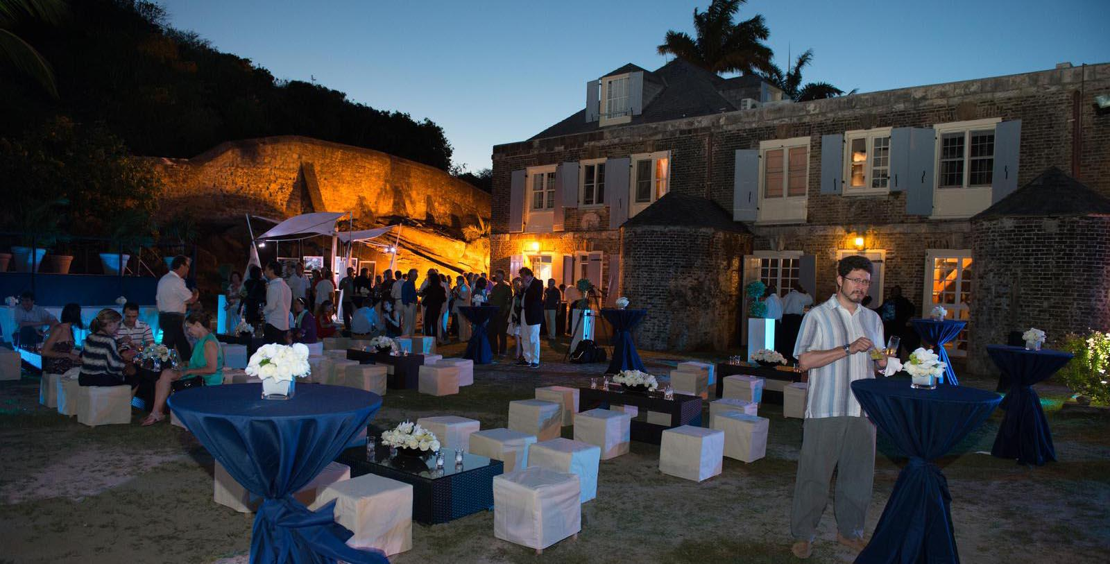 Image of outdoor wedding event reception Copper and Lumber Store Historic Inn, 1789, Member of Historic Hotels Worldwide, in English Harbour, Antigua and Barbuda, Special Occasions
