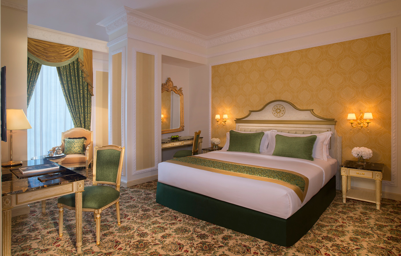 Accommodations:      Royal Rose Hotel  in Abu Dhabi