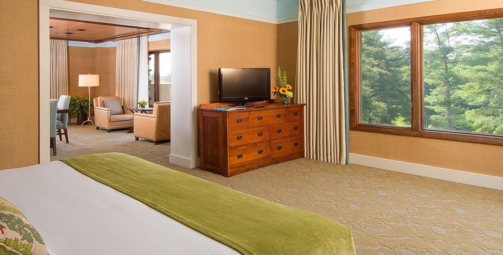 Image of Guestroom at The Omni Grove Park Inn, 1913, Member of Historic Hotels of America, in Asheville, North Carolina, Location Map