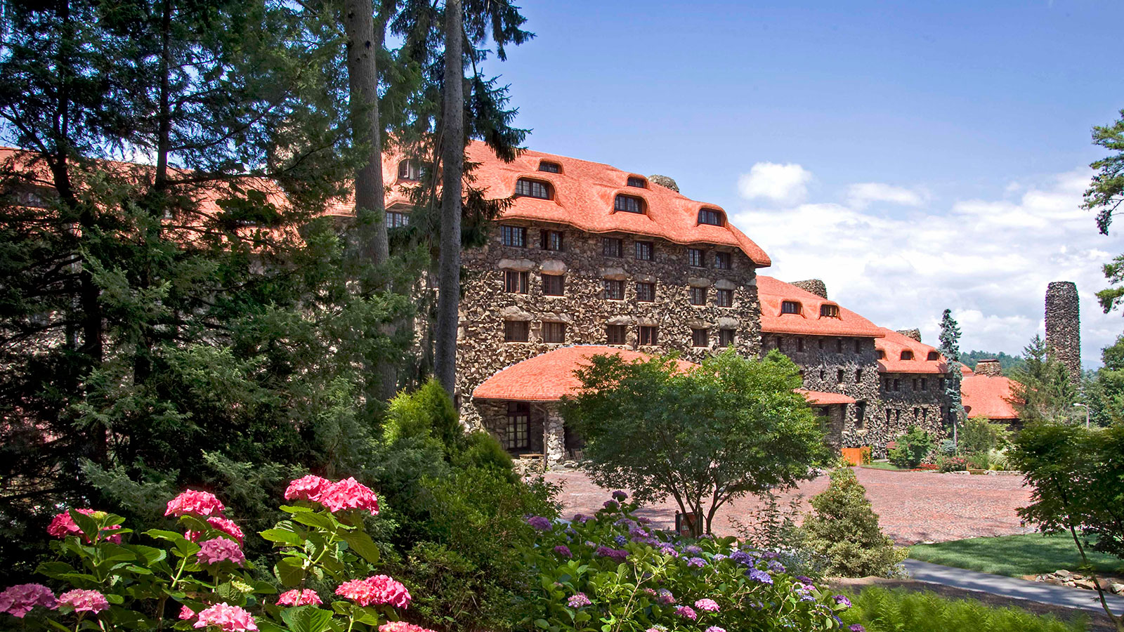 Image of Hotel Exterior The Omni Grove Park Inn, 1913, Member of Historic Hotels of America, in Asheville, North Carolina, Overview