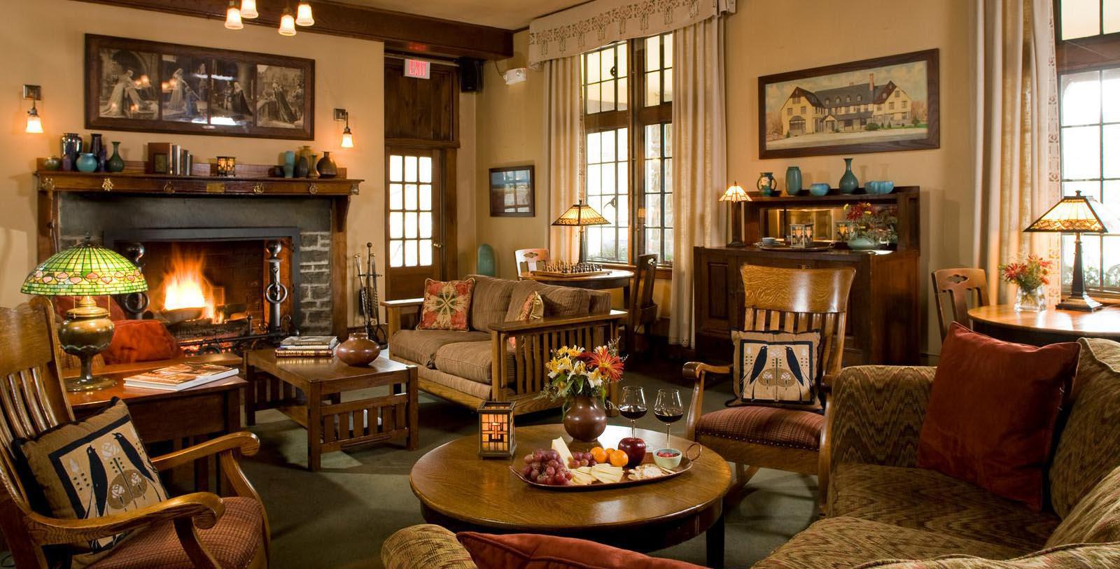 Image of Hotel Lounge at The Settlers Inn at Bingham Park, 1927, Member of Historic Hotels of America, in Hawley, Pennsylvania, Discover