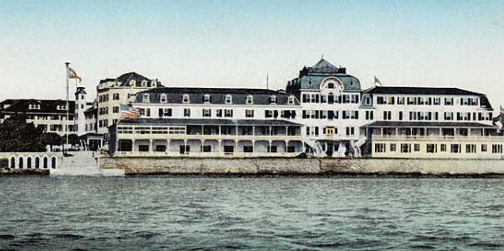Historical Image of Exterior, Hamilton Princess & Beach Club, A Fairmont Managed Hotel, 1885, Member of Historic Hotels Worldwide, in Hamilton, Bermuda