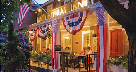 Dining at      Concord's Colonial Inn  in Concord