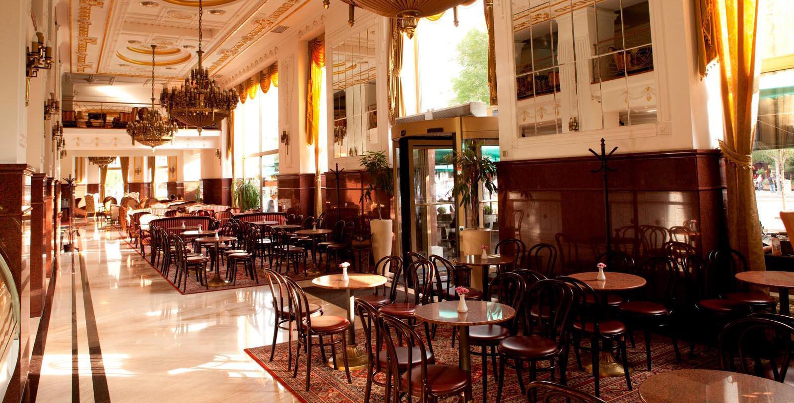 Image of Dining Room, Hotel Moskva, Belgrade, Sebia, 1908, Member of Historic Hotels Worldwide, Dining