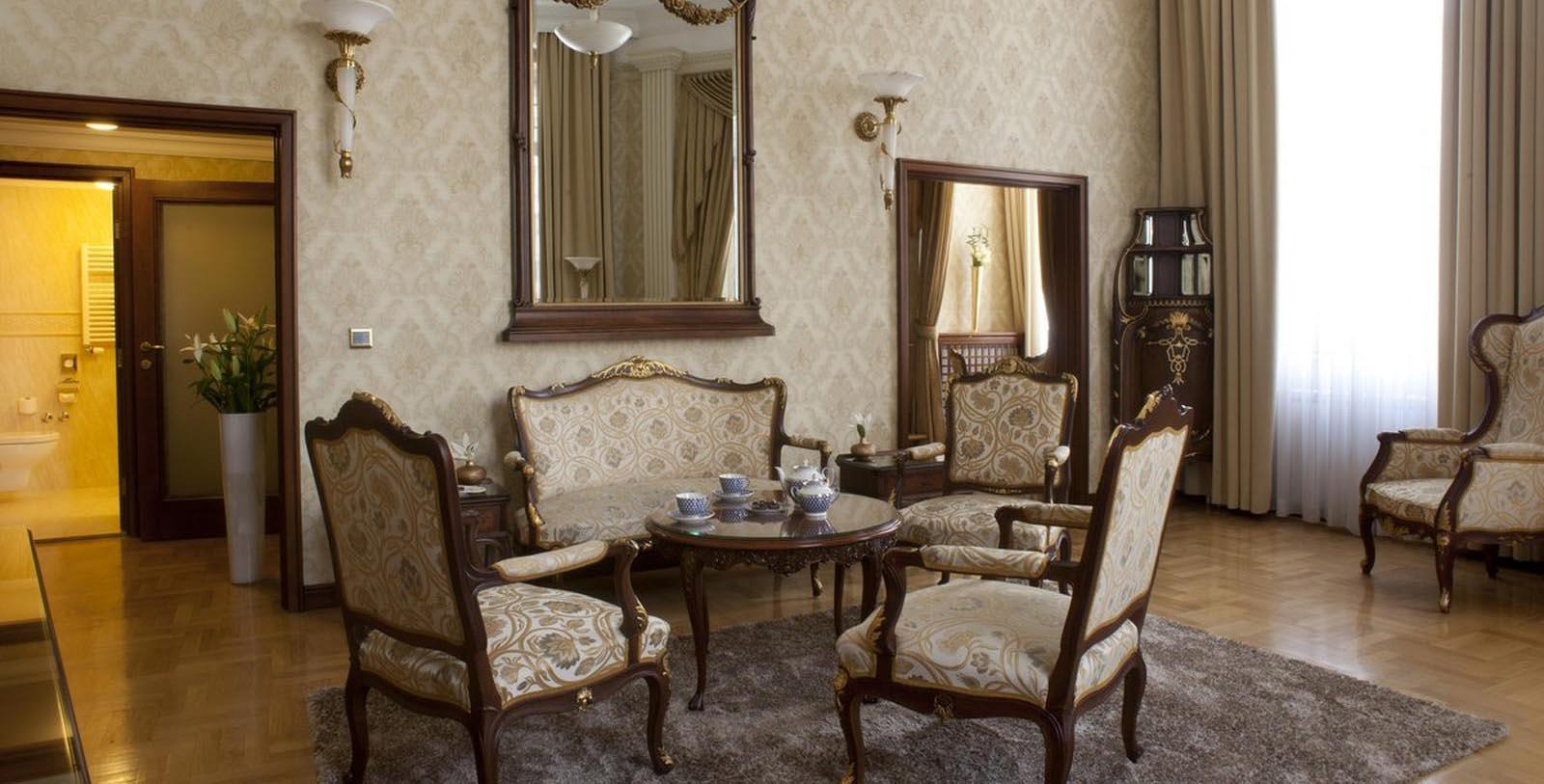 Image of Suite Living Room, Hotel Moskva, Belgrade, Sebia, 1908, Member of Historic Hotels Worldwide, Discover